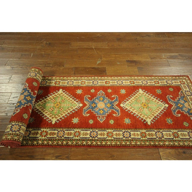"Shirvan Red Kazak Runner Rug - 2'8"" x 9'6"" - Image 8 of 10"