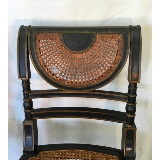 Wood Set of 8 French Cane Dining Chairs Circa 1840 - Two Arm & Six Side Chairs For Sale - Image 7 of 13