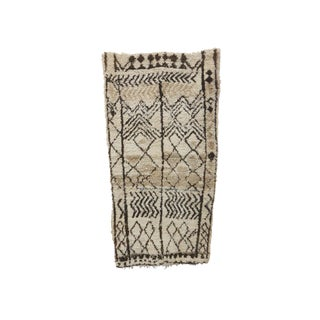 1980s Moroccan Azilal Rug - 3′7″ × 6′11″ For Sale