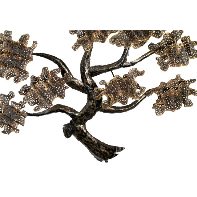 Contemporary Brass and Metal Tree Wall Art Sculpture For Sale - Image 3 of 10