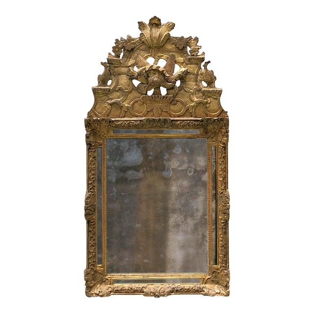 18th Century Carved Gilt Wood Louis XIV Mirror For Sale - Image 10 of 10
