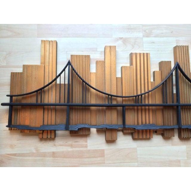 Syroco Signed 1969 Skyscraper Bridge Sculpture For Sale - Image 4 of 11