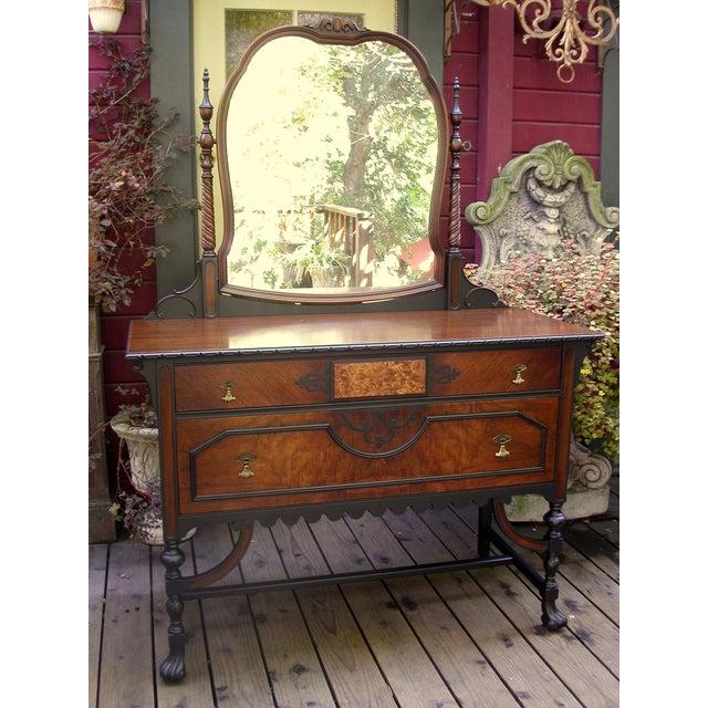 Gothic Jacobean Mahogany Dresser - Image 2 of 11