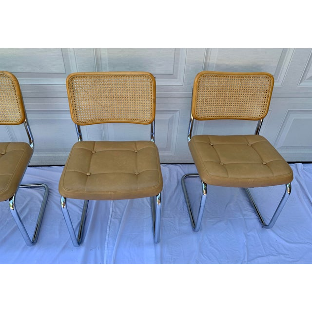 1980s Bauhaus Wicker and Chrome Dining Set - 5 Pieces For Sale - Image 11 of 13