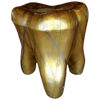 Mauro Oliveira Decorated Tooth Stool For Sale