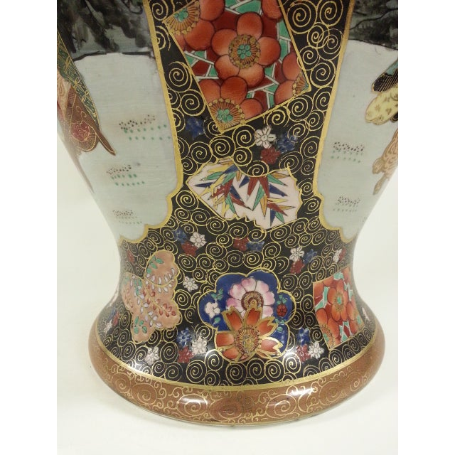 Chinese Famille Rose Vintage Style Temple Jar/Pair - Image 7 of 8
