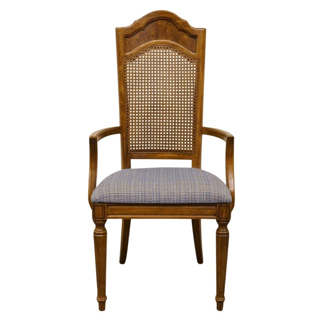 Late 20th Century Vintage Thomasville Furniture Romano Collection Cane Back Dining Chair For Sale