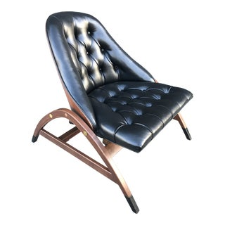 Mid Century Edward Wormley for Drexel Furniture Spring Bouncy Lounge Chair For Sale