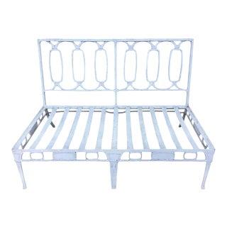 Mid-Century Modern Salterini Style Outdoor Iron Settee Garden Sofa For Sale