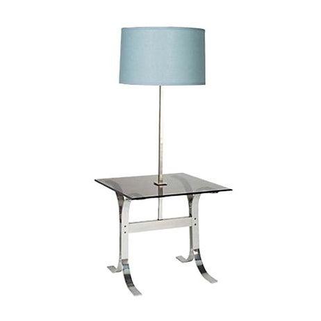 Mid-Century Modern 1970's Chrome & Glass Floor Lamp For Sale - Image 3 of 3
