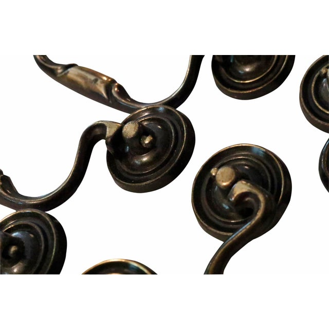 Country Cast Metal Bail Handles, Set of 12 For Sale - Image 3 of 4