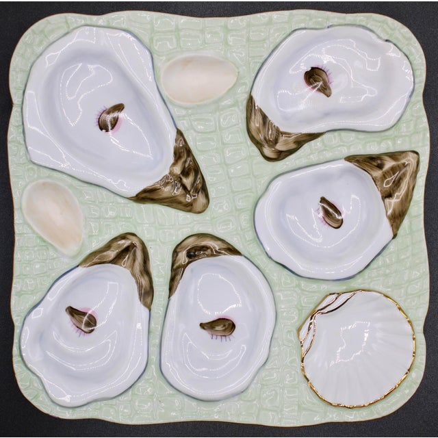 1960s Mint Green Oyster Plate For Sale - Image 12 of 12