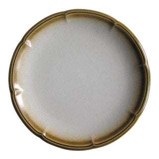 1970s Vintage Mikasa Ceramic Brown & Cream Stoneware Serving Platter For Sale