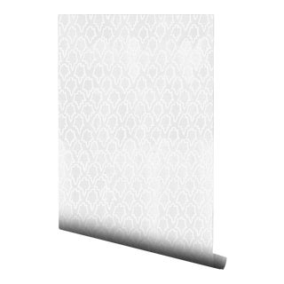 Boho Chic Gray Geometric Tile Pre-Pasted Wallpaper - 2 Piece Set For Sale