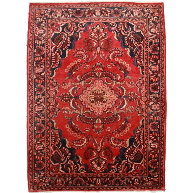 Hand-Knotted Persian Mahal Rug - 7′9″ × 11′2″ For Sale