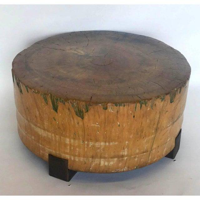 Rustic Vintage Butcher Block Table For Sale - Image 3 of 8