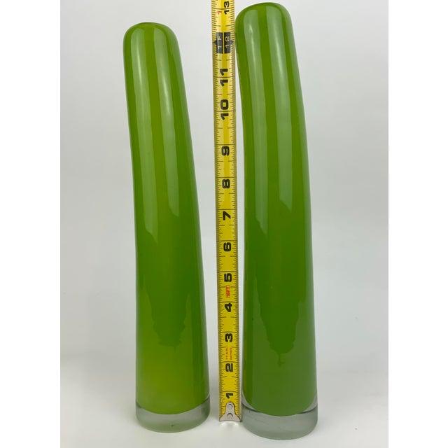 Glass Henry Dean Glass Bud Vases - Set of 4 For Sale - Image 7 of 13