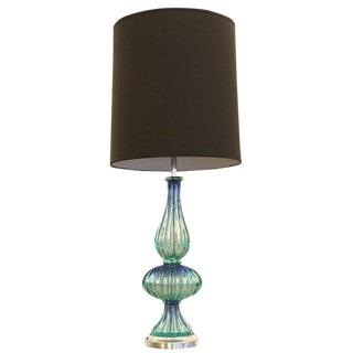 Acqua Murano Glass Table Lamp For Sale