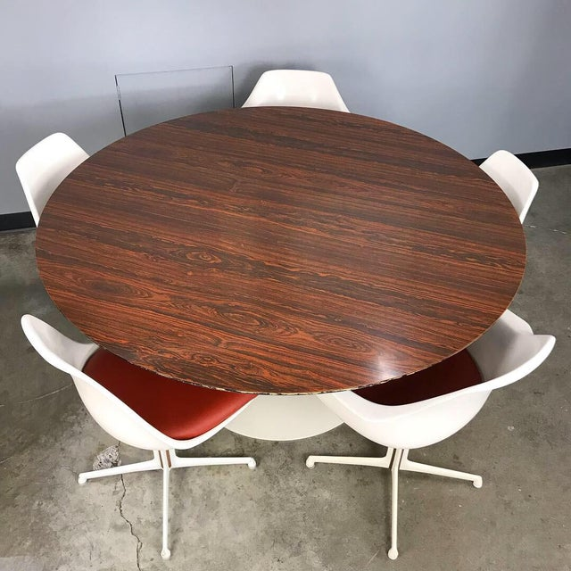 Mid-Century Modern Burke Dining Set With Rosewood Tulip Table For Sale - Image 3 of 12