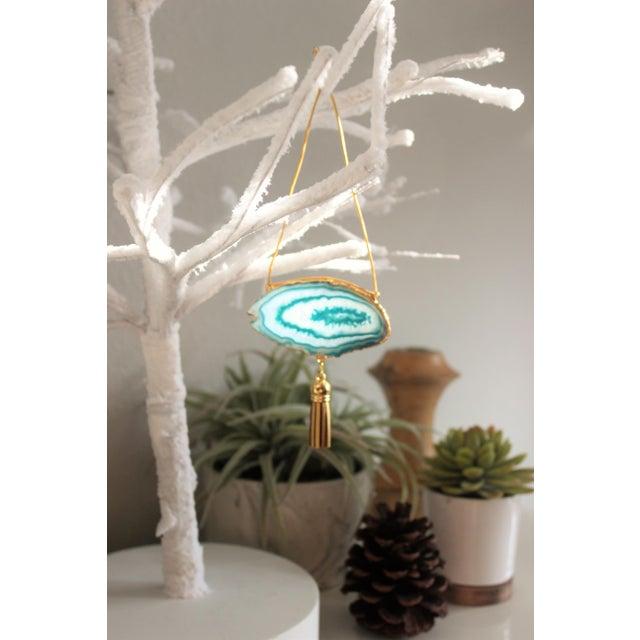 Modern Boho Agate Holiday Ornaments - Set of 6 - Image 7 of 10