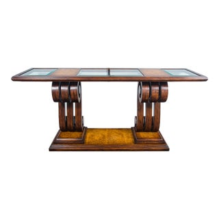 Traditional John Richards Walnut Console Table For Sale