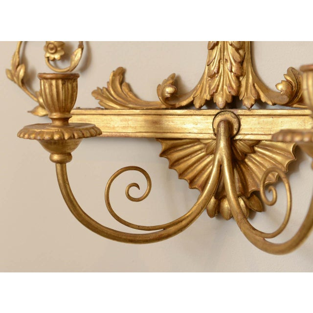 19th C. Giltwood Mirrored Sconces - a Pair For Sale - Image 10 of 11