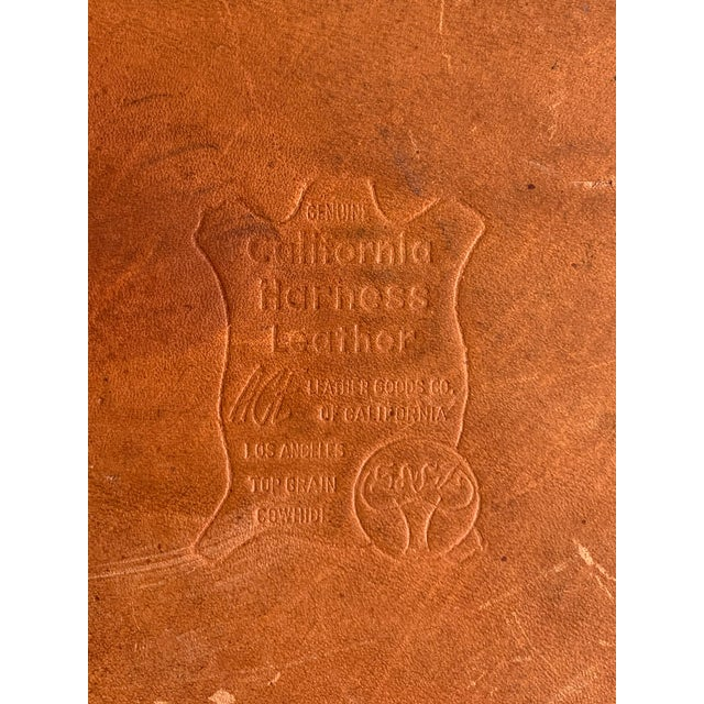 Vintage Leather Luggage Bag For Sale - Image 11 of 11