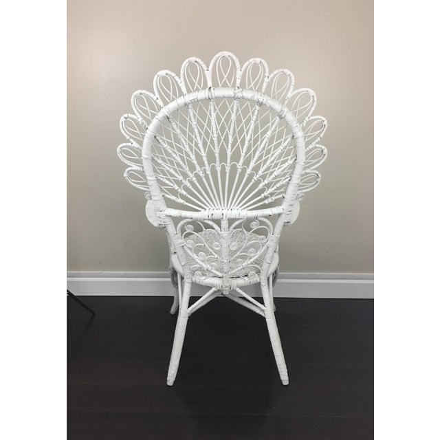 Early 20th Century Early 20th Century Antique White Wicker Chair For Sale - Image 5 of 12