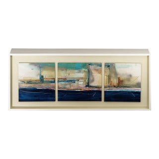 Abstract Mixed Media Triptych by Harold Larsen For Sale