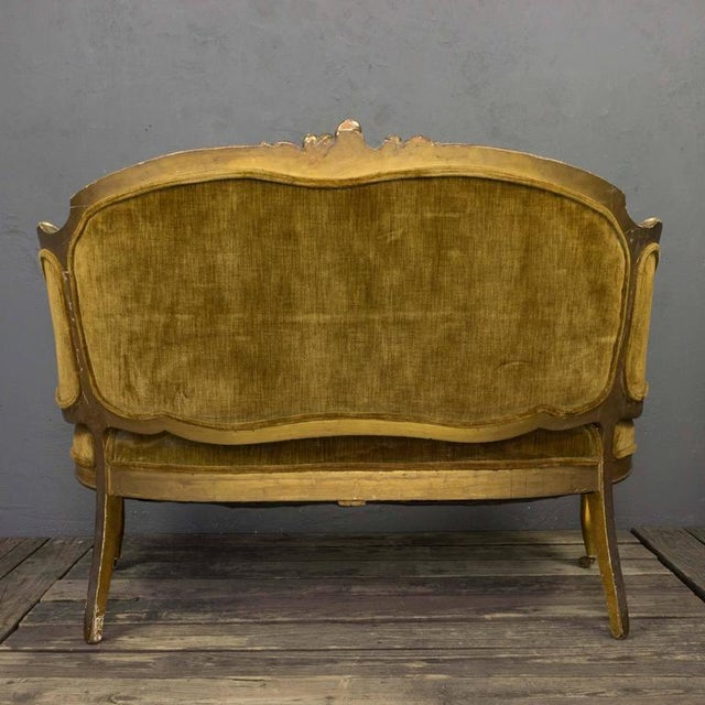 French 19th Century Rococo Revival Giltwood Settee - Image 5 of 10