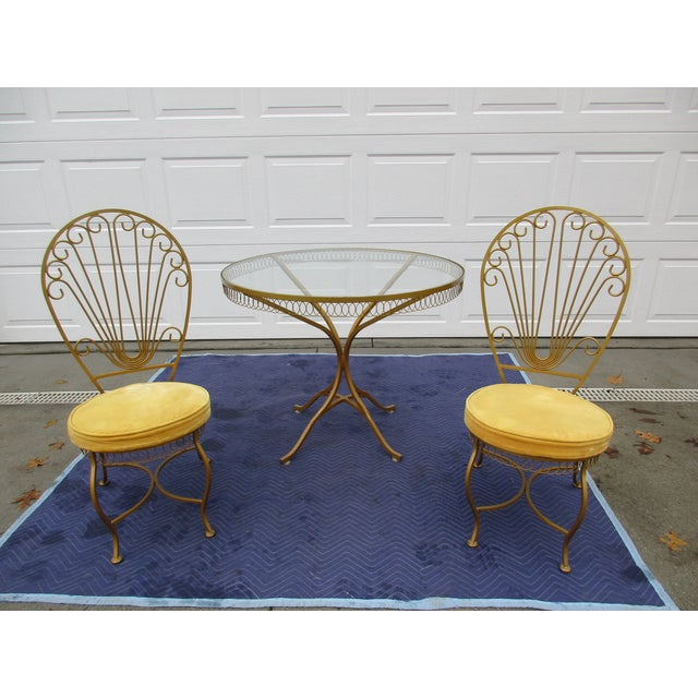 Vintage Hollywood Regency Bistro or Patio Set by Thinline For Sale - Image 13 of 13