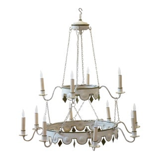 20th Century Neoclassical Style Tole Chandelier