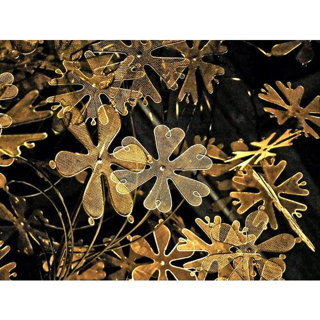 Gold Rare and Important Paavo Tynell 'Fantasia' Snowflake Chandelier for Taito Oy For Sale - Image 8 of 12