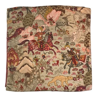 Late 20th Century Falconry Table Runner For Sale