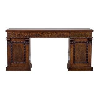 Antique English Mahogany Pedestal Sideboard Buffet circa 1850 For Sale