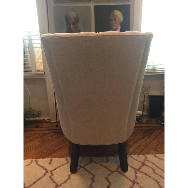 Custom Tufted Wingback Chair - a Pair - Image 8 of 11