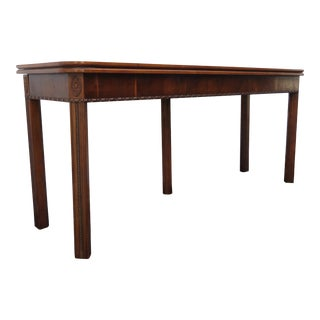 Hollywood Regency Long Console Library Dining Table For Sale