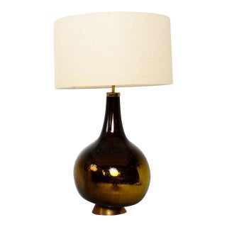 Gold and Yellow Mercury Glass Table Lamp For Sale