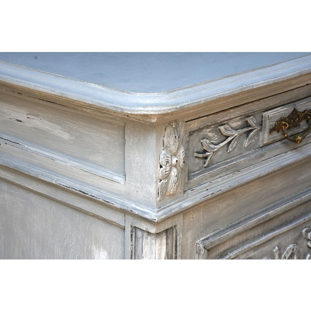 Traditional French Louis XVI-style Painted Buffet - Image 8 of 10