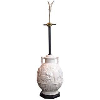 Large Ceramic Elephant Lamp For Sale