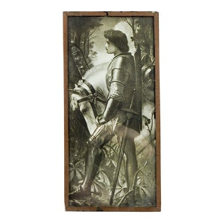 """Sir Galahad"" Print Under Glass, 1910 For Sale"