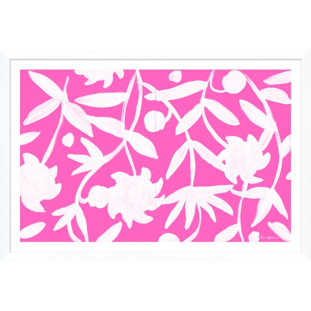 """Contemporary """"Winnetka in Pink"""" By Dana Gibson, Framed Art Print For Sale - Image 3 of 3"""