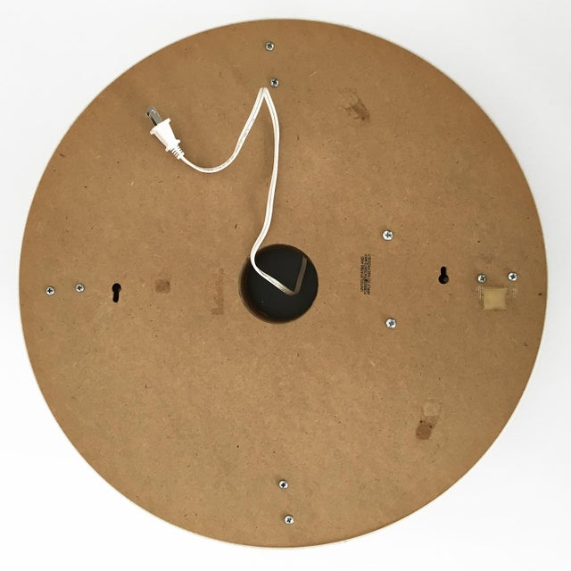 White Sottsass Style Round Neon Wall Mirror & Light For Sale - Image 8 of 8