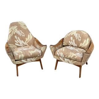 Vintage Mid-Century Adrian Pearsall His and Hers Lounge Chairs- A Pair For Sale