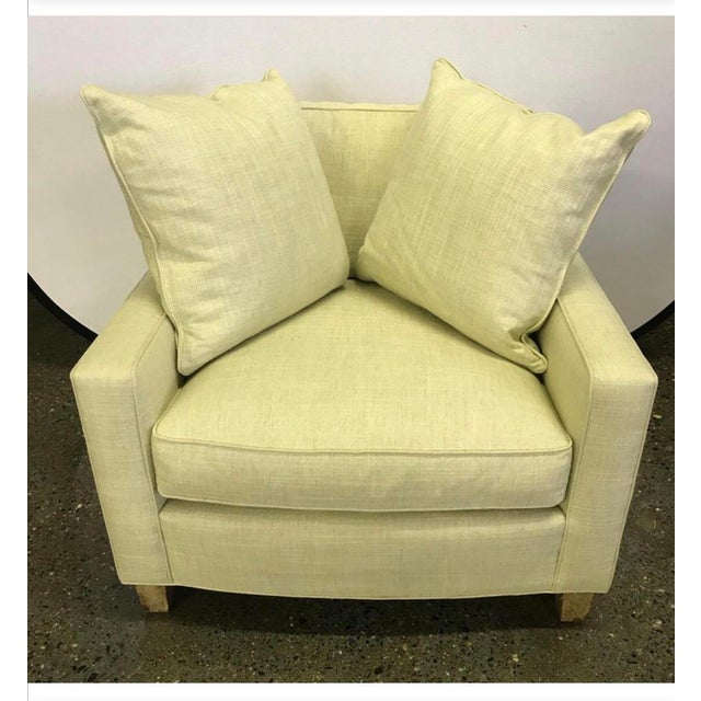 Yellow Hickory Chair Furniture Co. Mid-Century Modern Upholstered Lounge Chair For Sale - Image 8 of 12