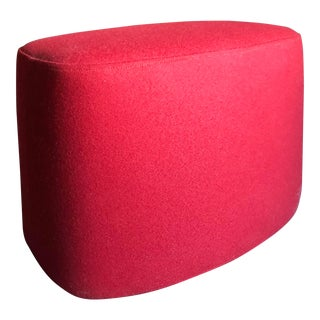 B&b Italia Red Wool Frank Oval Ottoman For Sale