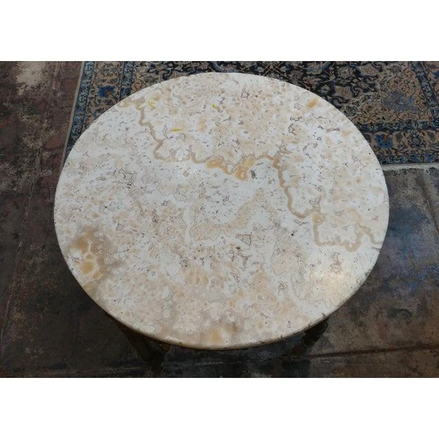 19th Century Louis XV Carved Gilt & Marble Top Coffee Table For Sale - Image 5 of 8