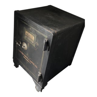 1900s Industrial J Baum Iron Floor Safe For Sale