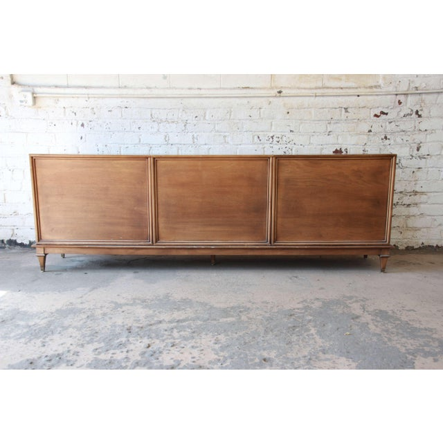 Bernhard Rohne for Mastercraft Burled Amboyna and Brass Mid-Century Credenza - Image 10 of 11