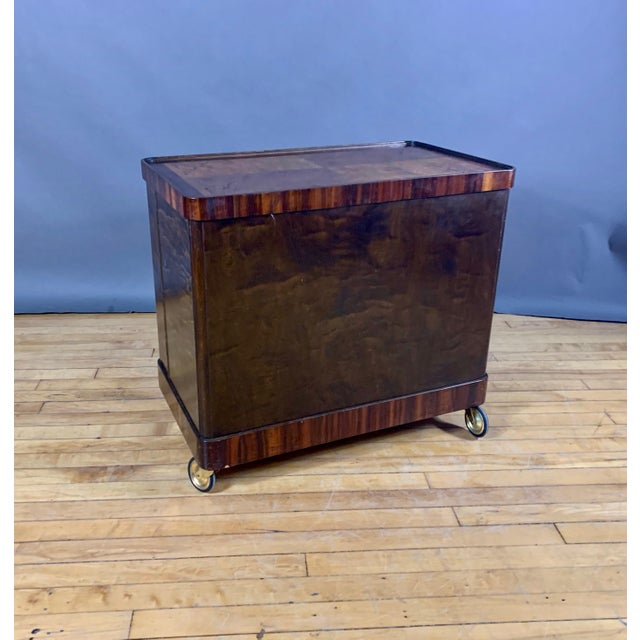 Cinnamon 1930s Rootwood & Rosewood Bar Cabinet With Intarsia For Sale - Image 8 of 11